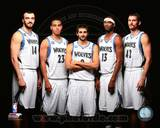 Minnesota Timberwolves 2013 Starting Five Posed Photo
