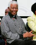 Former South African President Nelson Mandela attends the unveiling of his statue in Parliament squ Photo