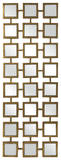 Gold Square Linking Wall Mirror Home Accessories