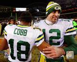Aaron Rodgers and Randall Cobb celebrate after game winning touchdown Photo