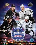 Anaheim Ducks Vs. Los Angeles Kings 2014 NHL Stadium Series Match-up Composite Photo