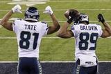 NFL Super Bowl 2014: Feb 2, 2014 - Broncos vs Seahawks - Golden Tate, Doug Baldwin Photo av Gregory Bull