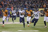 NFL Super Bowl 2014: Feb 2, 2014 - Broncos vs Seahawks - Percy Harvin Fotografisk trykk av Matt Slocum