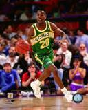Seattle Sonics Gary Payton 1991 Action Photo
