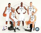 Brooklyn Nets 2013 Starting Five Posed Photo