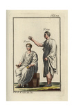 Emperor Augustus (Seated) and Roman Nobleman in Togas Giclee Print