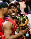 Miami Heat Gary Payton with the NBA Championship Trophy Game 6 2006 NBA Finals Photo