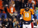 NFL Super Bowl 2014: Feb 2, 2014 - Broncos vs Seahawks - Peyton Manning Fotografisk trykk av Evan Vucci