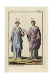 Roman Woman and the Goddess Flora Wearing the Panula Giclee Print