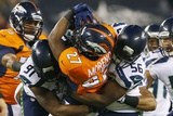 NFL Super Bowl 2014: Feb 2, 2014 - Broncos vs Seahawks - Knowshon Moreno Photographic Print by Paul Sancya