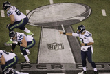NFL Super Bowl 2014: Feb 2, 2014 - Broncos vs Seahawks - Russell Wilson Photographic Print by Mel Evans