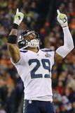 NFL Super Bowl 2014: Feb 2, 2014 - Broncos vs Seahawks - Earl Thomas Photographie par Paul Sancya