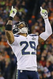NFL Super Bowl 2014: Feb 2, 2014 - Broncos vs Seahawks - Earl Thomas Photographic Print by Paul Sancya