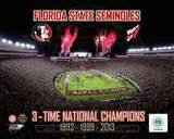 Florida State Seminoles 3- Time National Champions Photo