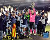 Sporting KC Celebrate Winning the 2013 MLS Cup Photo