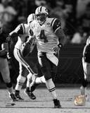 Brett Favre 2008 Action Black & White Photo