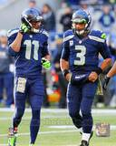 Percy Harvin & Russell Wilson 2013 Action Photo