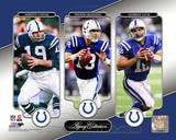 Johnny Unitas, Peyton Manning, & Andrew Luck Legacy Collection Photo