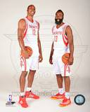 James Harden & Dwight Howard 2013-14 Posed Photo