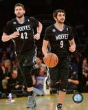 Minnesota Timberwolves Ricky Rubio & Kevin Love 2013-14 Action Photo