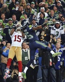 NFL Richard Sherman pass deflection 2013 NFC Championship Game Photo