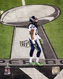 Richard Sherman Super Bowl XLVIII Action Photo