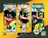 Bart Starr, Brett Favre, & Aaron Rodgers Legacy Collection Photo