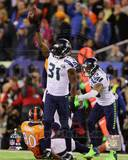 Kam Chancellor & Earl Thomas Celebrate Chacellor's Interception Super Bowl XLVIII Photo