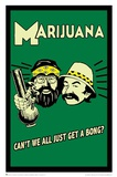 Cheech and Chong - Marijuana Retro Poster