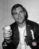 Denny McLain holds the baseball after his 30th win of the season, September 14, 1968 Photo