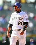 Colorado Rockies Wilin Rosario 2013 Action Photo