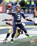 Russell Wilson 2013 Playoff Action Photo