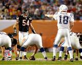 Brian Urlacher & Peyton Manning Super Bowl XLI Action Photo