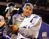 Malcolm Smith with the Vince Lombardi Trophy Super Bowl XLVIII Photo