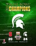 Michigan State Spartans 2014 Rose Bowl Champions Logo Photo