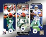Roger Staubach, Troy Aikman, & Tony Romo Legacy Collection Photo