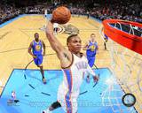 Oklahoma City Thunder Russell Westbrook 2013-14 Action Photo