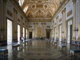 Throne Room, Royal Palace, Caserta, Campania, Italy, Europe Fotografisk tryk af Oliviero Olivieri