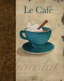 Le Café Print by Elizabeth Medley