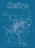 Cairo Artistic Blueprint Map Posters by Christopher Estes