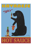 Havanese Hot Sauce Collectable Print by Ken Bailey