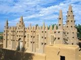 Mosque in Bozo, Mopti, Mali, Africa Fotografisk tryk af Bruno Morandi