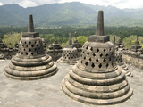 Borobodur Buddhist Temple, UNESCO World Heritage Site, Java, Indonesia, Southeast Asia, Asia Photographic Print by Tony Waltham