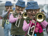 Fasnact Spring Carnival Parade, Lucerne, Switzerland, Europe Photographic Print by Christian Kober