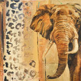 New Safari on Gold Square IV Kunstdrucke von Patricia Quintero-Pinto