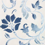 Blue Floral Shimmer I Prints by Tiffany Hakimipour