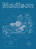 Madison Artistic Blueprint Map Print by Christopher Estes