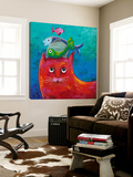 Funny Kitty and Fish Posters by Y. Hope