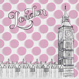 Textile London Posters by Gina Ritter