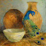 Peacock Vessels II Affiche par Lanie Loreth